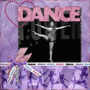 scrapebook layouts for dance | Scrap Girls Chit Chat Newsletter: March 21, 2009