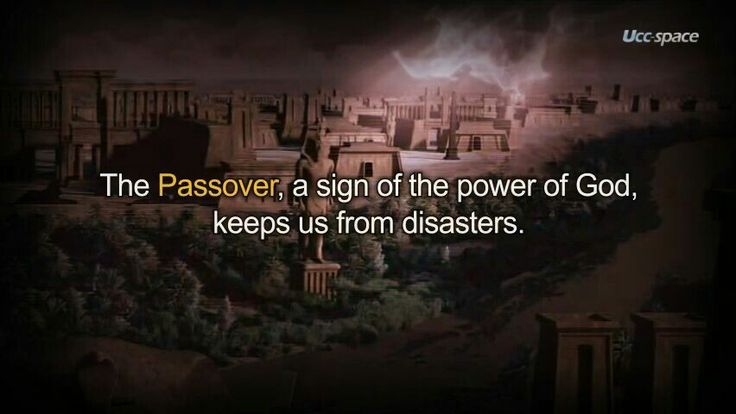 Passover,the promise of God. It origined from the age of moses, the people came out from Egypt after keeping the passover.
