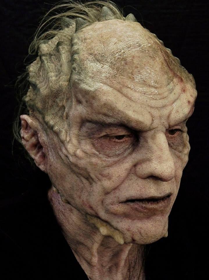 Silicone Makeup Brushes: Steve Mouzakis. Silicone Prosthetic With Foam Latex Cowl