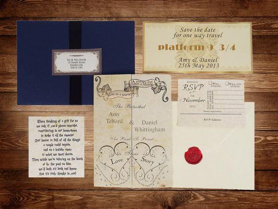 handmade harry potter wedding invitations by Bypersonalrequest