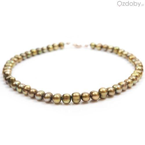 Przepiękny naszyjnik wykonany z naturalnej perły hodowlanej i zapięciem najwyższej jakości srebra.