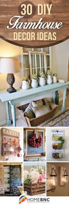 30 ways diy farmhouse decor ideas can make your home unique - Home Rustic Decor