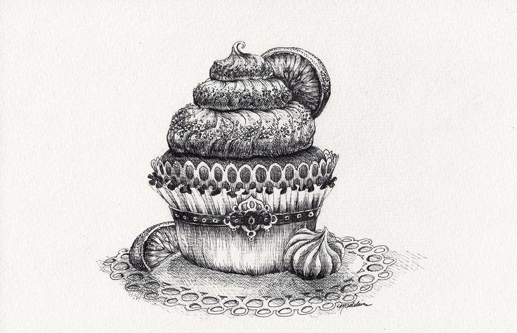 Key Lime Cupcake by MadeleineInk on DeviantArt