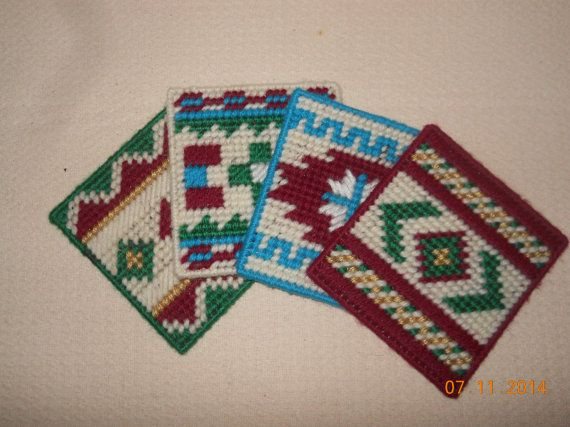 Southwestern Coasters by SpyderCrafts on Etsy, $6.00
