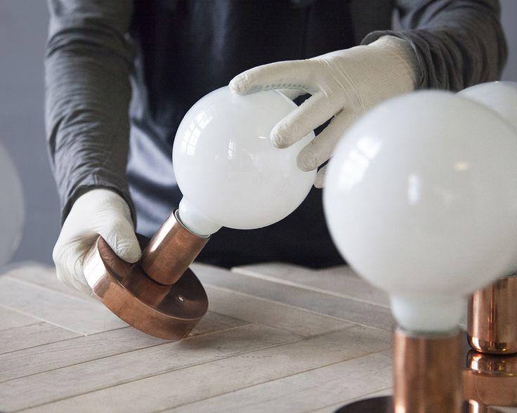 Handle Studio | Copper wall lamp 160x160x200 mm, 1 lamp E14