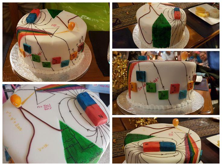 Physics Themed Cake