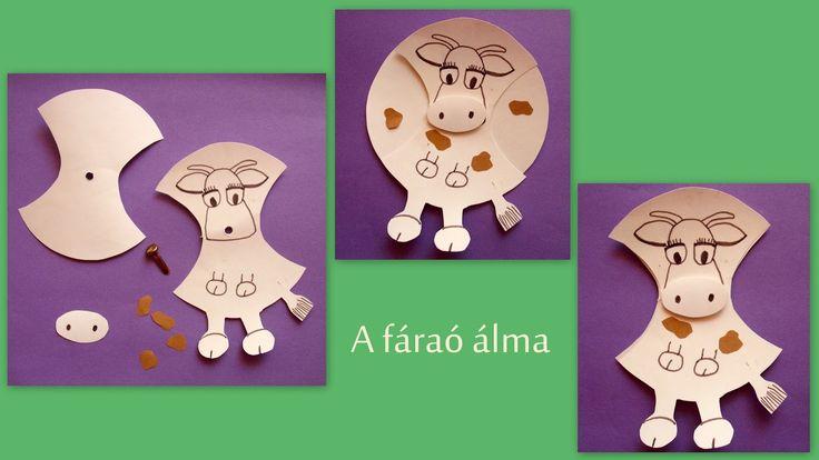 knutselwerkje De farao had een droom over zeven vette en zeven magere koeien. Pharaoh had a dream of 7 fat cows and 7 lean cows Bible craft