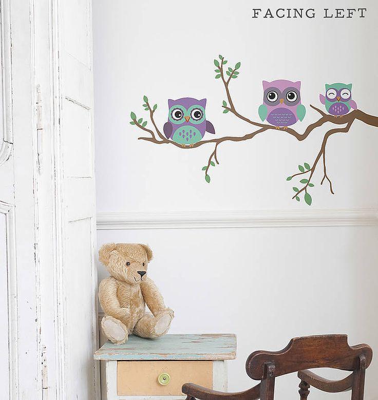 Children's Owl Wall Sticker from notonthehighstreet.com