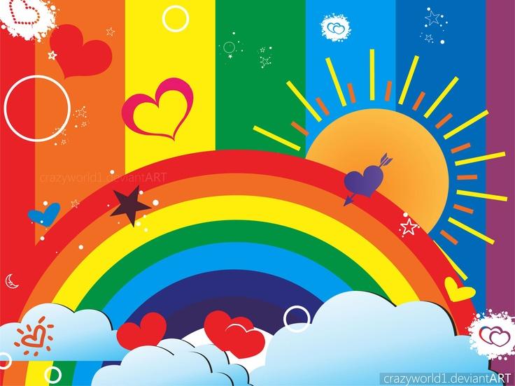 Постер с радугой