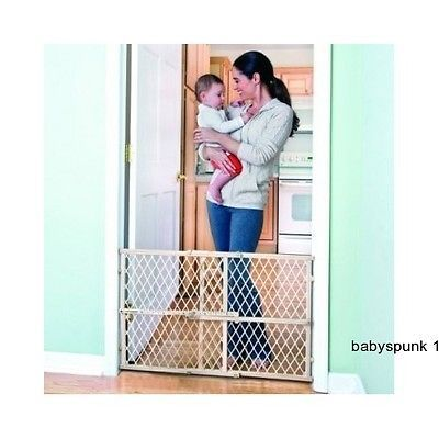 Child Safety Gates Swinging Baby Infant Toddler Safety Stair Gate Pet Dog Kid