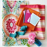 Winter's Reprieve: Pink, blue and orange color palette