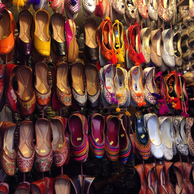 Colourful shoes at the markets in India