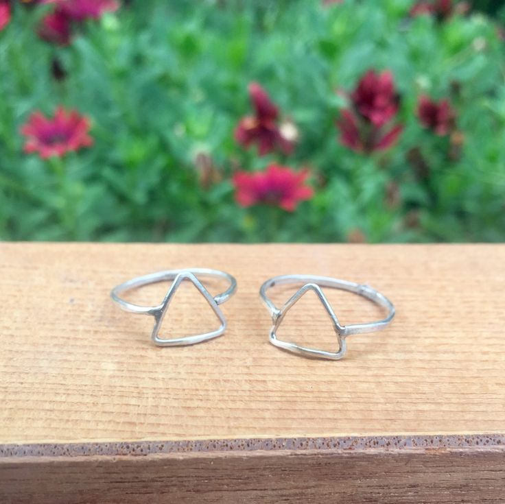 Sterling Silver Triangle Ring / Sterling Silver Ring / Silver Geometry Ring / Silver Isosceles Ring / Silver Shape Ring / Silver Stack Ring by GemAndTonik on Etsy https://www.etsy.com/au/listing/476961218/sterling-silver-triangle-ring-sterling