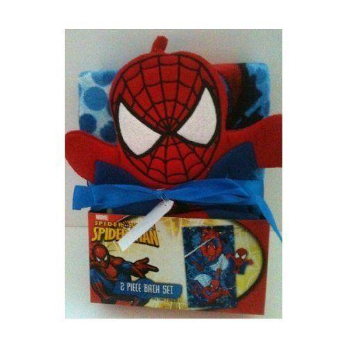 Spiderman 2 Piece Bath Set Bath Towel And Bath Mitt * You Can Get More  Details