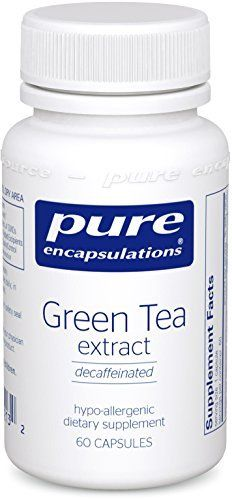 This decaffeinated green tea extract is a 100:1 herbal extract containing catechins, a class of powerful antioxidant compounds known as polyphenols. It contains a minimum of 90% catechins, with epigallocatechin gallate, the most powerful catechin, making up a minimum of 70% of the... more details at https://supplements.occupationalhealthandsafetyprofessionals.com/herbal-supplements/green-tea/product-review-for-pure-encapsulations-green-tea-extract-decaffeinated-hypoallergenic