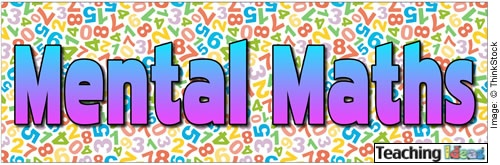 List of quick and easy mental maths games and activities