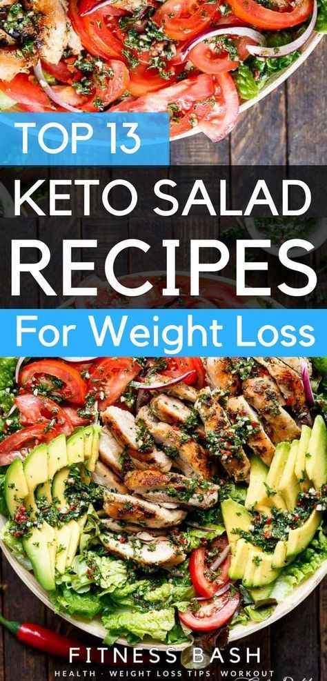 Keto salad recipes for a ketogenic diet. Check the low carb and 13 easy keto sal...