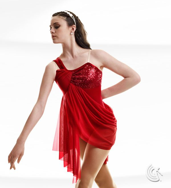 Curtain Call Costumes® - Sensitivity Beautiful contemporary dance style available in red, yellow and teal.