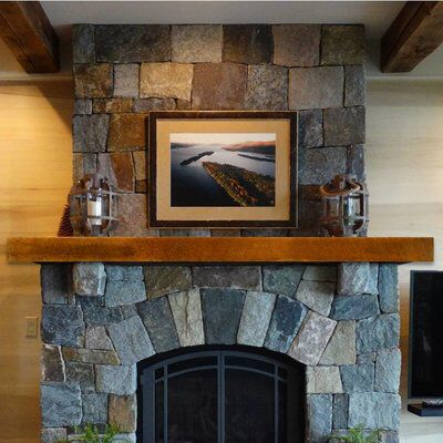 Best 25 Industrial Fireplace Mantels Ideas On Pinterest