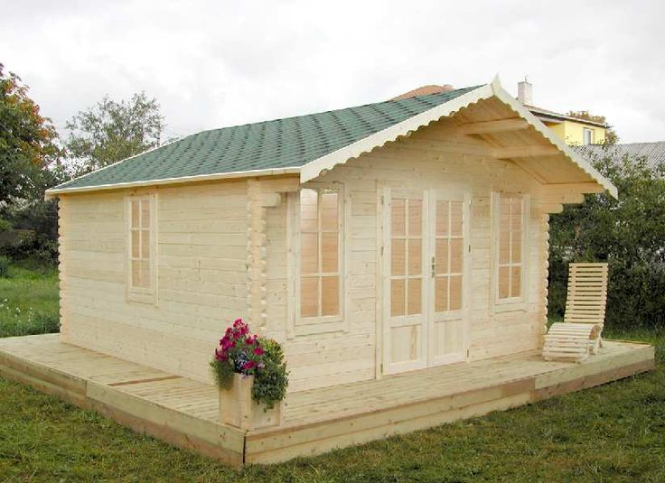 Landscape timber ideas cabin homes garden timber for Portable shed office