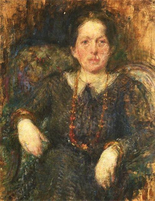 1936 Olga Boznanska (Polish Impressionist painter, 1865-1945) Irena Stokowska