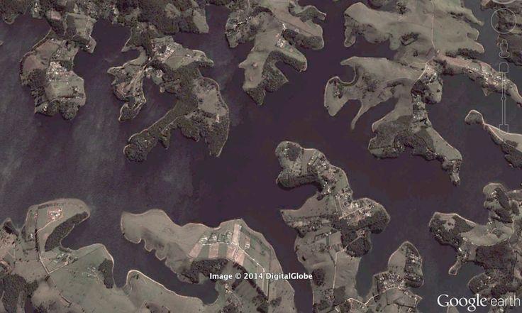 6 imagens de satélite chocantes da seca no Cantareira | SãoPa