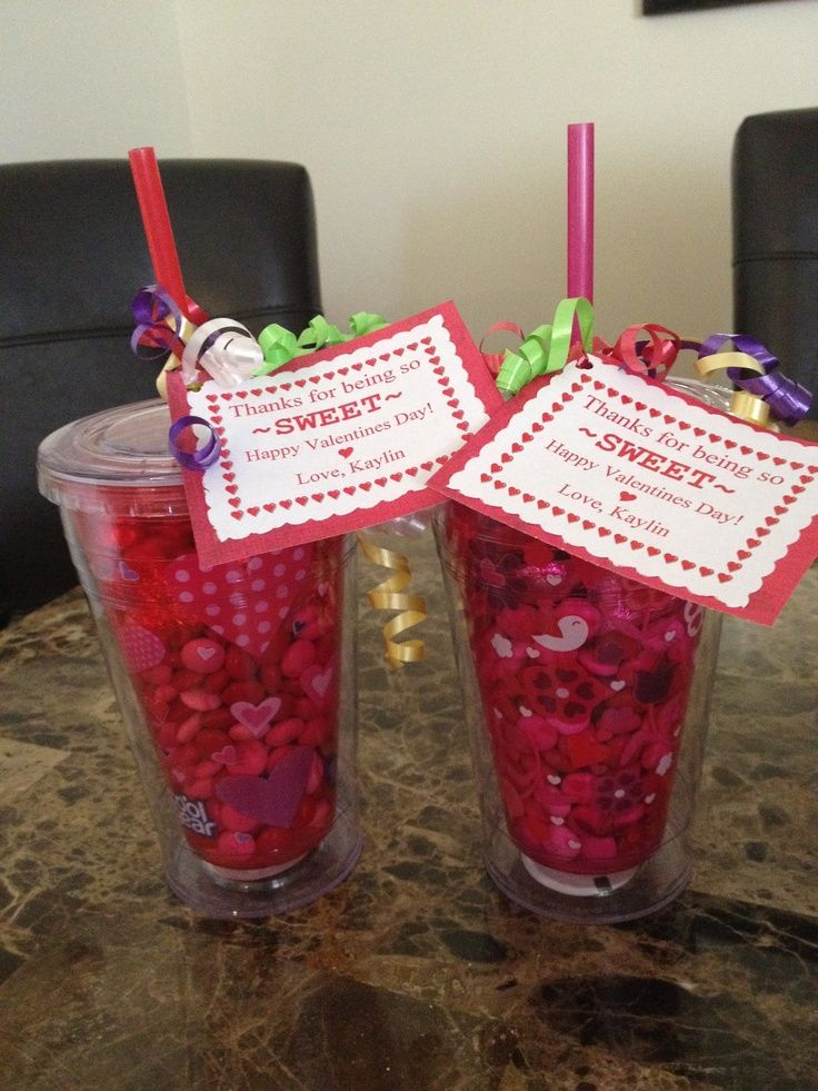 valentines for teachers | Valentines gifts for daycare teachers. Cups from Walmart and ... | gi ...