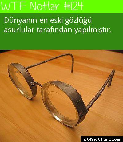 Dünyanın en eski gözlüğü