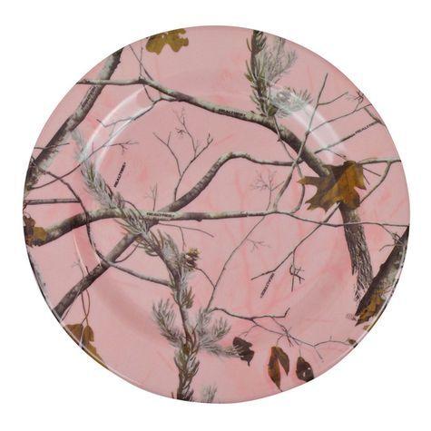 """Realtree Pink Camo 10"""" Pink Plate $2.99  #Realtreecamo"""