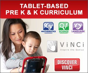 Save $25 off! Vinci offers tablet-based Pre K and Kindergarten curriculum, apps, dvds, books, and educational toys.