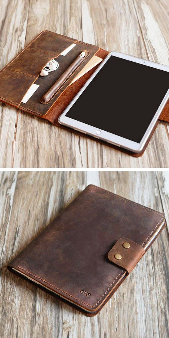more photos 62afc 48d21 Personalized leather iPad mini 5 case / air 10.5 / iPad 9.7 / pro ...