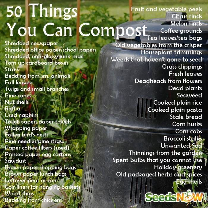 50 Things You Can Compost Organicgardening Garden Compost Compost Backyard Garden