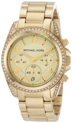 Michael Kors Mk5166 Ladies Watch with Gold Plated Bracelet and Gold Dial | Your #1 Source for Watches and Accessories