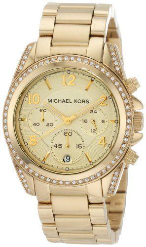 Michael Kors Golden Runway Watch with Glitz MK5166 Michael $170.00