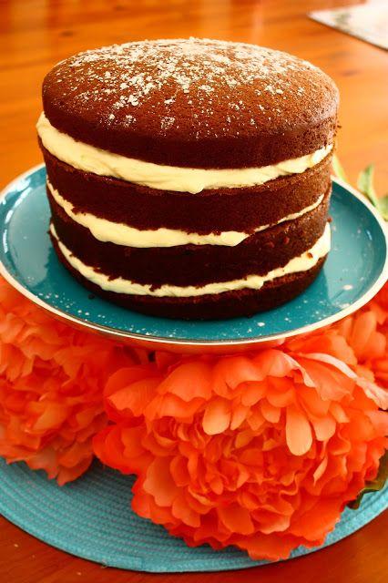 Gingerbread Cake with Lemon Mascarpone Cream