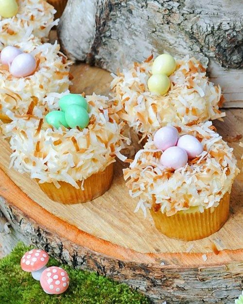 Easter Cupcakes // Coconut Nest Cupcakes Recipe
