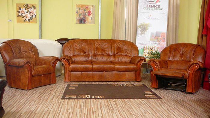 A Malaga klasszikus bőr ülőgarnitúra anyagához rengeteg különböző minőségi bútorbőrt kínálunk, hogy a lehető legjobban illeszkedjen a helyiség enteriőrjébe.