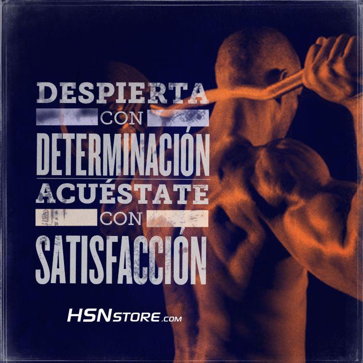 Despiertate con determinación, acuéstate con satisfacción. #fitness #motivation #motivacion #gym #musculacion #workhard #musculos #fuerza #chico #chica #chicofitness #chicafitness #sport