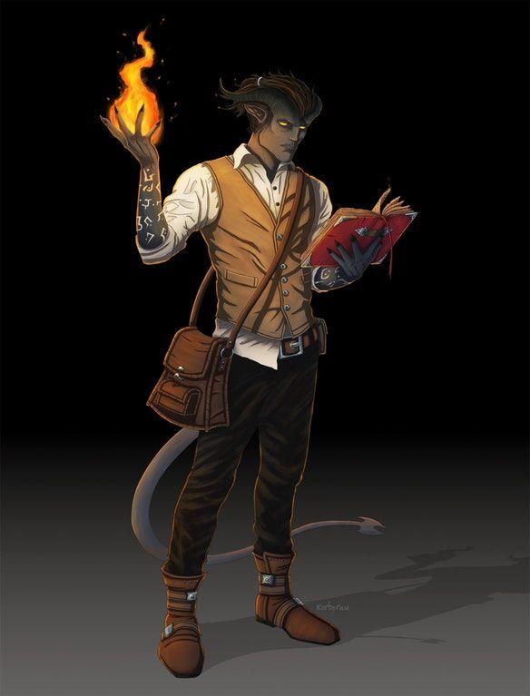 [Art] Tiefling Wizard : DnD