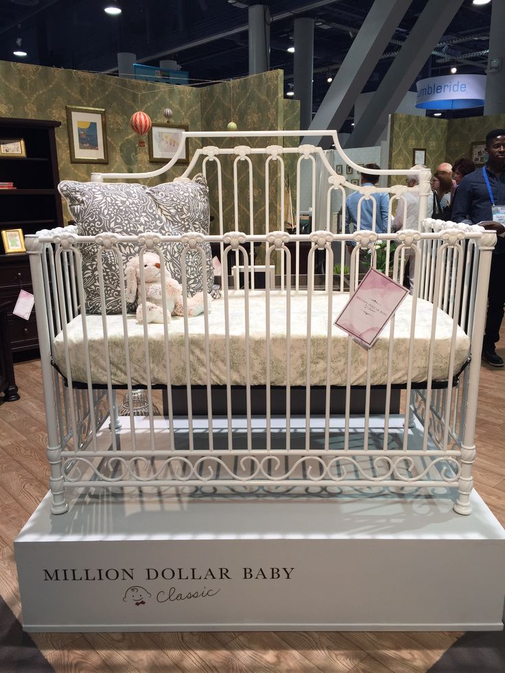 Madeline Iron Crib by Million Dollar Baby Classic - love the shabby chic vibe of this iron crib!