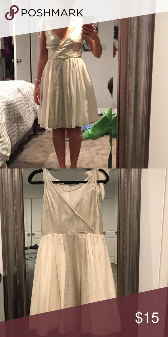 Charlotte Ronson Dress Linen dress with bow tie on one strap. Missing belt. Needs creativity. Charlotte Ronson Dresses