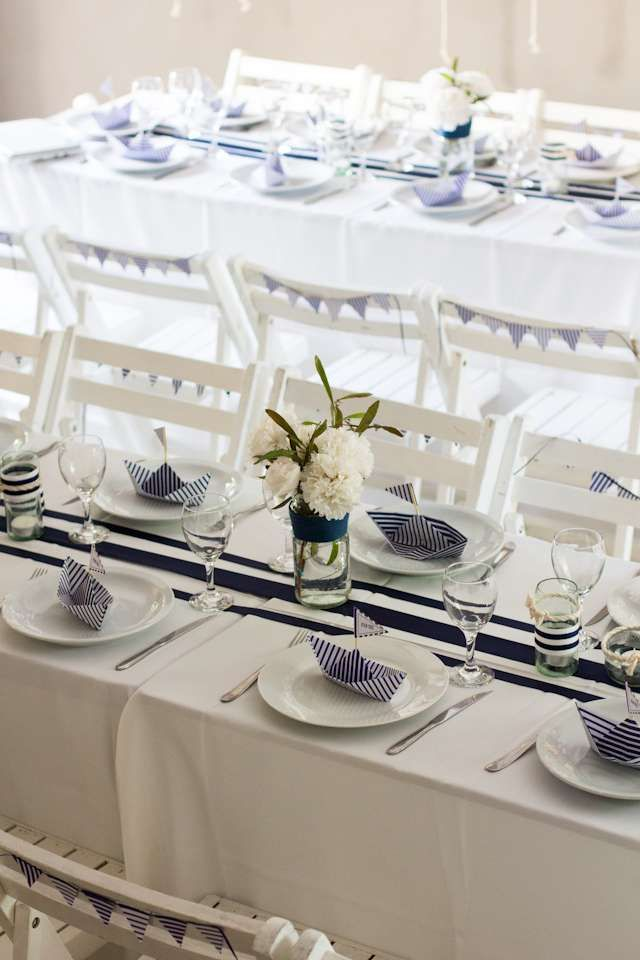 Nautical Baptism Party Ideas | Photo 10 of 14 | Catch My Party