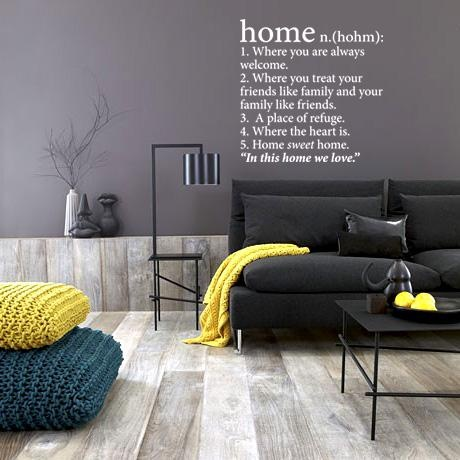 Home Wall Vinyl – White from Love Lexicon Wall Art - R249 (Save 55%)