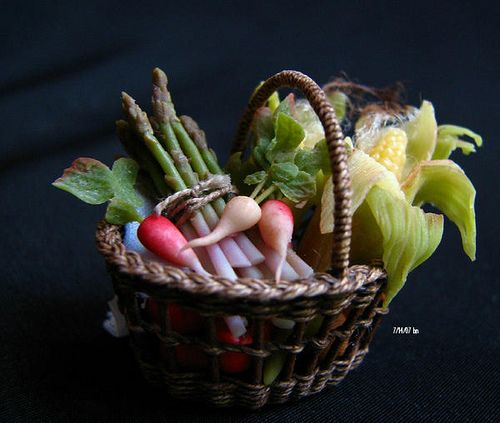 12th scale vegetable basket | Flickr - Photo Sharing!