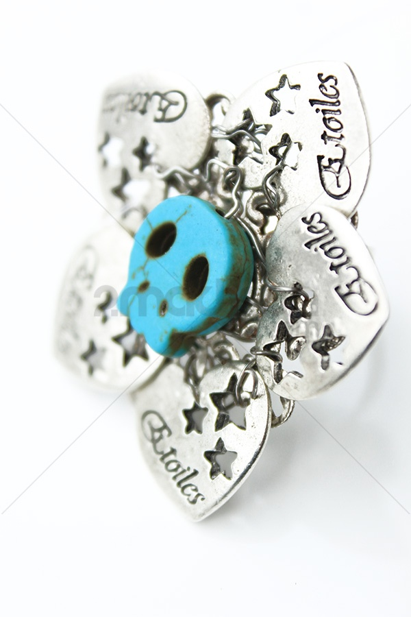 2Madison.com | Skull Turquise Ring |