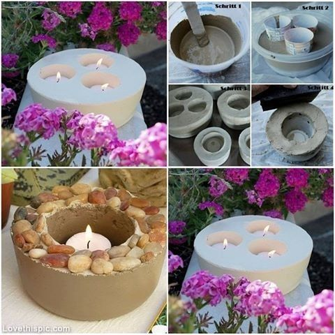 Want to try this with water and put outside in the winter and let freeze.  Then pop it out and put candles in it.  Cool.