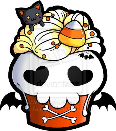 halloween skull cupcake by yampuffdeviantartcom on deviantart - Halloween Skull