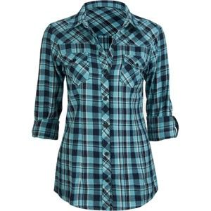 ladies flannel shirts | FULL TILT Roll Cuff Womens Flannel Shirt
