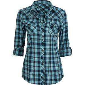 ladies flannel shirts | FULL TILT Roll Cuff Womens Flannel Shirt