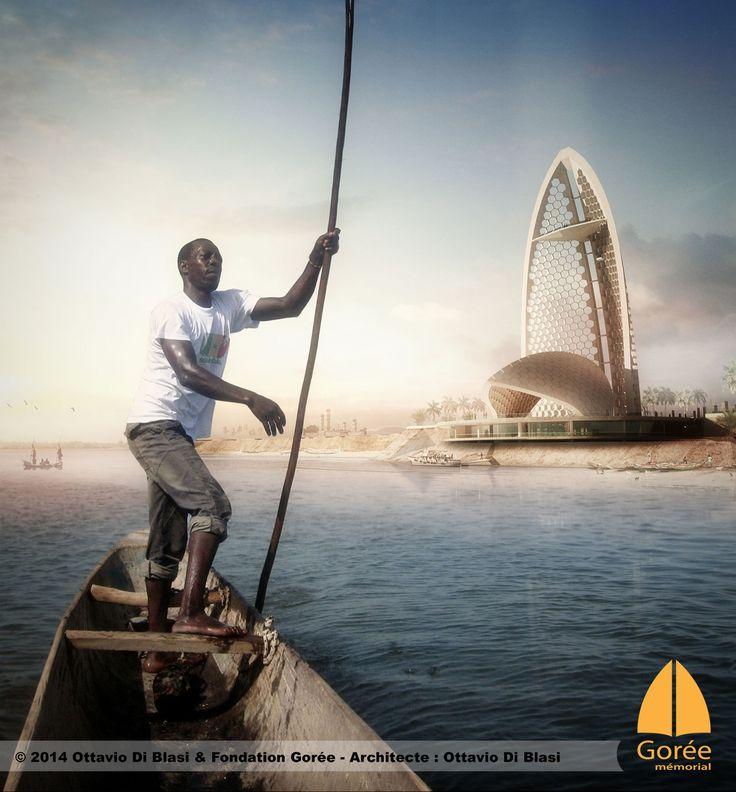 Le mémorial de Gorée à Dakar vue de la mer par Ottavio Di Blasi - www.memorialdegore.org